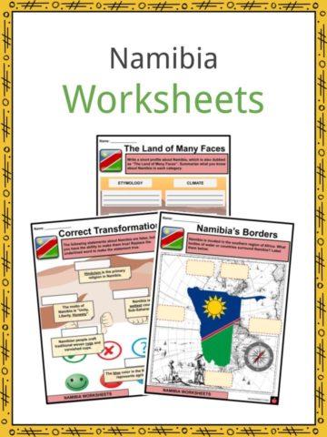 Namibia Worksheets