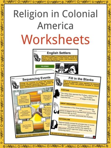 Religion in Colonial America Worksheets