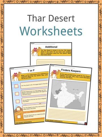 Thar Desert Worksheets