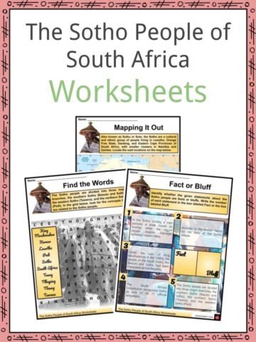 The Sotho People of South Africa Worksheets