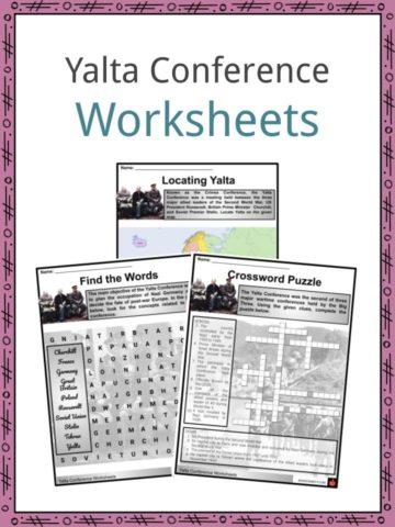 Yalta Conference Worksheets