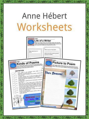 Anne Hebert Worksheets