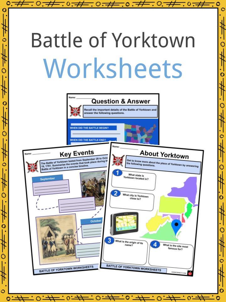 Battle of Yorktown Worksheets