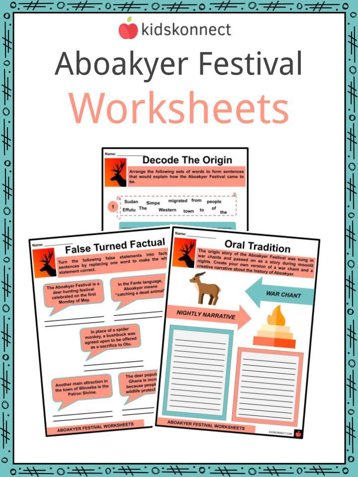 Aboakyer Festival Worksheet