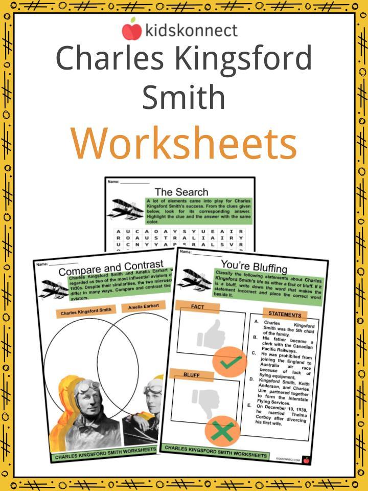 Charles Kingsford Smith Worksheets