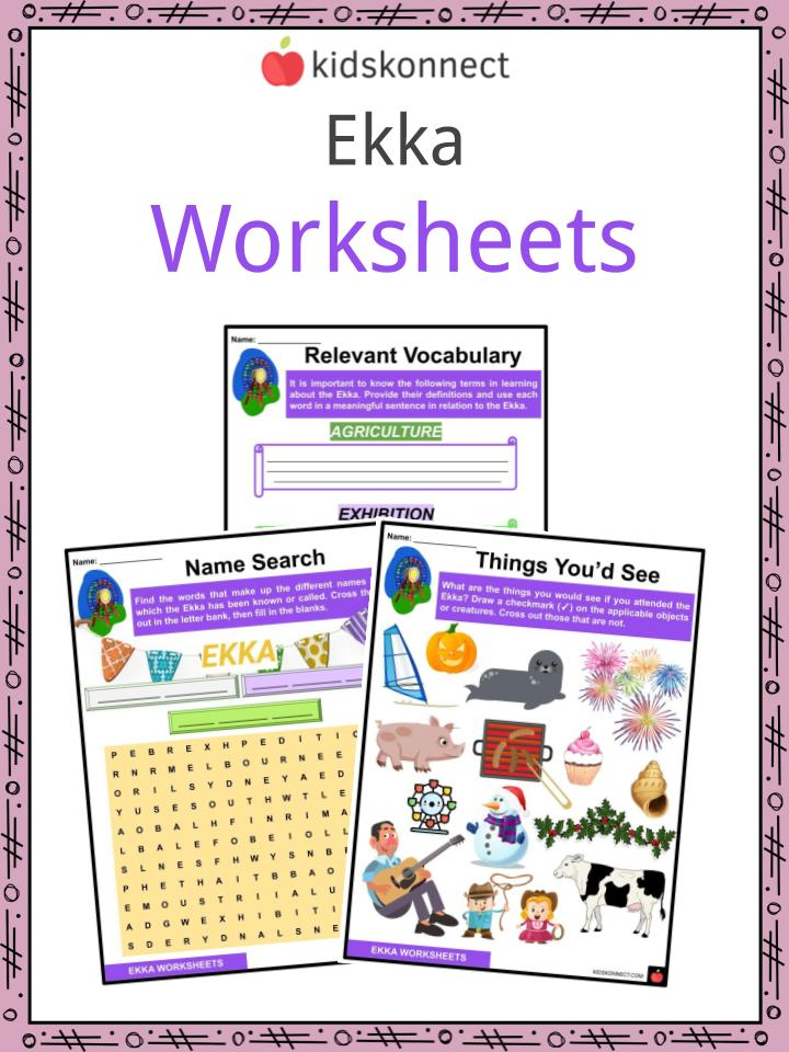 Ekka Worksheets