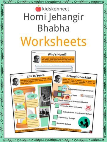 Homi Jehangir Bhabha Worksheets