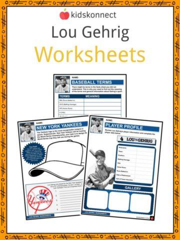 Lou Gehrig Worksheets