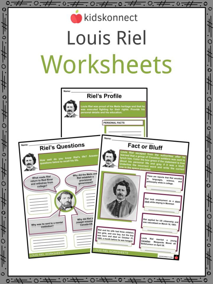 Louis Riel Worksheets