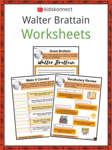 Walter Brattain Worksheets